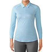 adidas Women's Zippered ¾-Sleeve Golf Polo