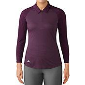adidas Women's Zippered ¾-Sleeve Golf Polo