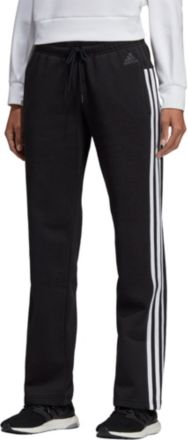 180b0f4453 adidas Women  39 s Cotton Fleece 3-Stripes Open Hem Pants