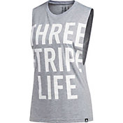 adidas Women's '3 Stripe Life' Muscle Tank Top