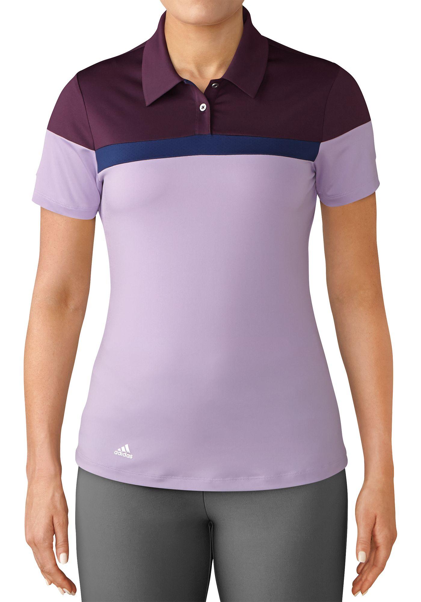 adidas Women's Color Blocked Golf Polo