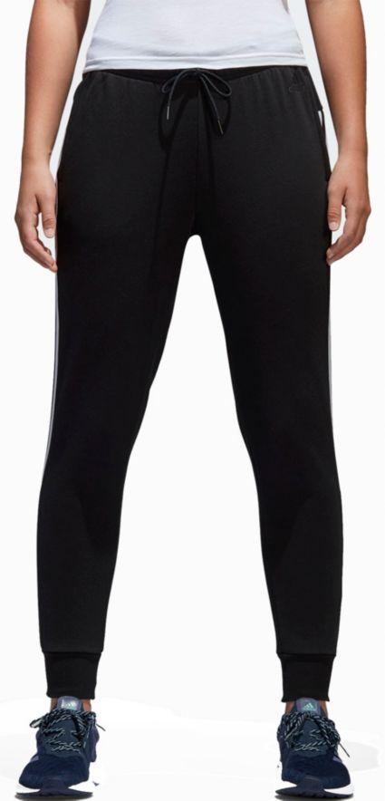on sale b21a7 14e20 adidas Women s Essentials Cotton Fleece 3-Stripes Jogger Pants