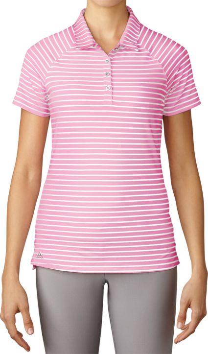 adidas Women's Double Stripe Golf Polo