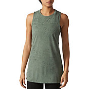 adidas Women's Fleck-Print Muscle Tank Top