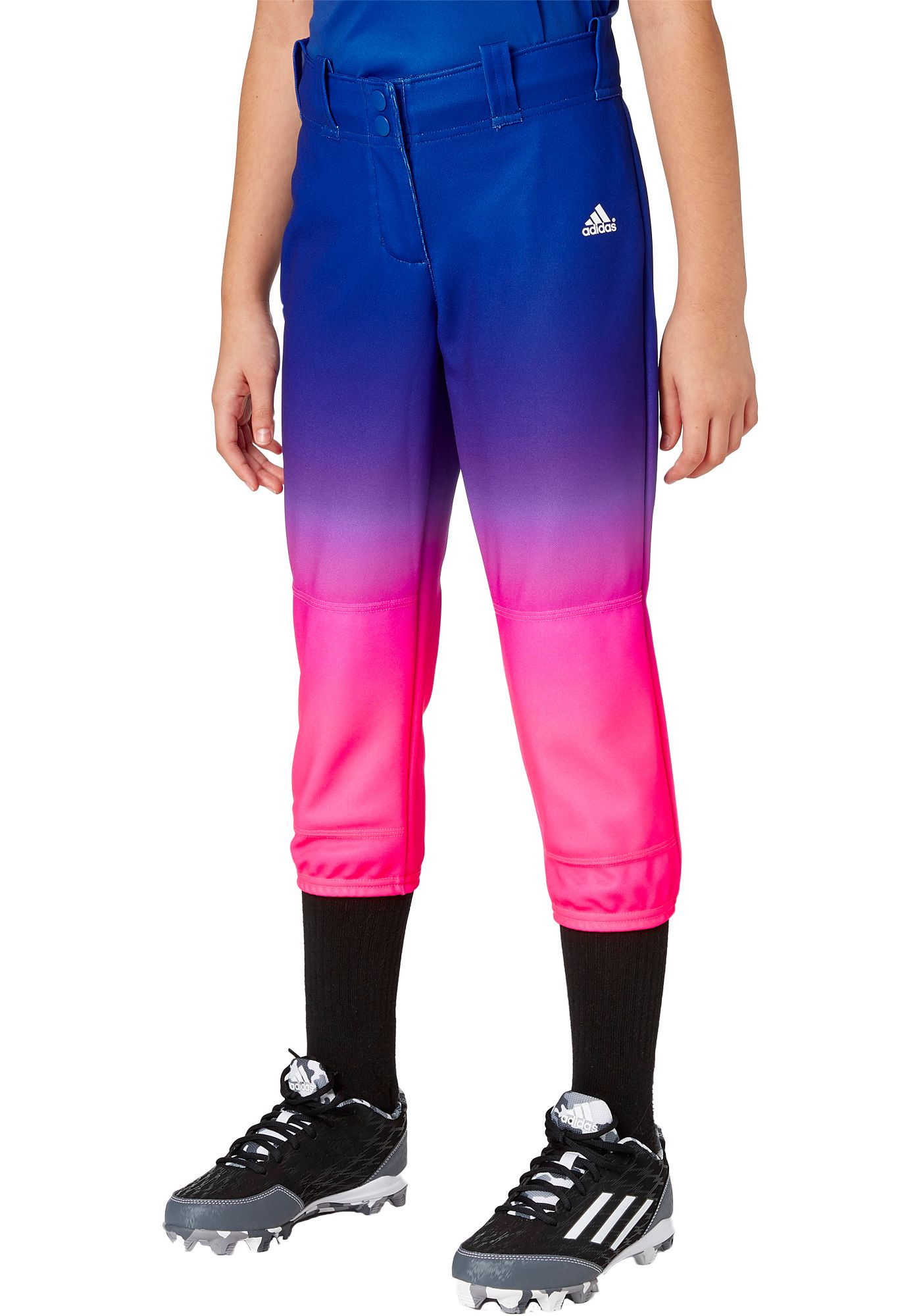 adidas Girls' Destiny Ombre Softball Pants