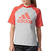 adidas Women's Short Sleeve Fashion Hoodie