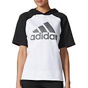 adidas Women's Short Sleeve Fashion Hoodie