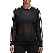 adidas Women's Essentials Mesh Crewneck Sweatshirt