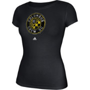 adidas Women's Columbus Crew Logo Black T-Shirt