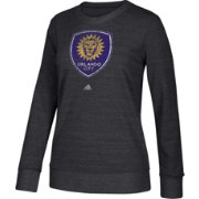 adidas Women's Orlando City Her Full Color Black Heathered Crew Pullover Sweatshirt