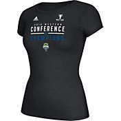 adidas Women's Seattle Sounders 2016 Western Conference Champions Black T-Shirt
