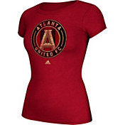 adidas Women's Atlanta United Primiere Logo Red T-Shirt