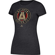 adidas Women's Atlanta United Distressed Logo Black T-Shirt