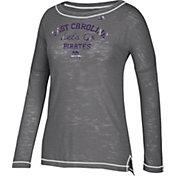 adidas Women's East Carolina Pirates Purple Tri-Blend Long Sleeve Shirt