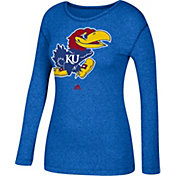 adidas Women's Kansas Jayhawks Blue Long Sleeve T-Shirt