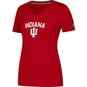 adidas Women's Indiana Hoosiers Crimson  Ultimate V-Neck Performance T-Shirt