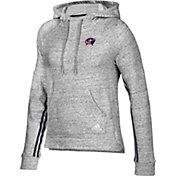 adidas Women's Columbus Blue Jackets Team Stitch Heather Grey Pullover Hoodie