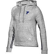 adidas Women's St. Louis Blues Team Stitch Heather Grey Pullover Hoodie