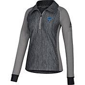 adidas Women's St. Louis Blues Logo Grey Performance Quarter-Zip Pullover