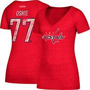 CCM Women's Washington Capitals T.J. Oshie #77 Red T-Shirt