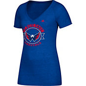 adidas Women's Washington Capitals Banner Dazzle Royal Heathered T-Shirt