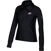 adidas Women's Carolina Hurricanes Logo Black Performance Quarter-Zip Pullover