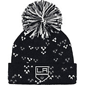 adidas Women's Los Angeles Kings Black Cuff Pom Knit Beanie