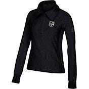 adidas Women's Los Angeles Kings Logo Black Performance Quarter-Zip Pullover