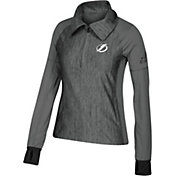 adidas Women's Tampa Bay Lightning Logo Grey Performance Quarter-Zip Pullover