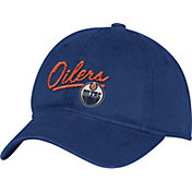 adidas Women's Edmonton Oilers Navy Slouch Adjustable Hat