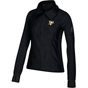 adidas Women's Pittsburgh Penguins Logo Black Performance Quarter-Zip Pullover