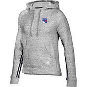 adidas Women's New York Rangers Team Stitch Heather Grey Pullover Hoodie