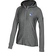 adidas Women's New York Rangers Logo Grey Full-Zip Hoodie