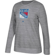 adidas Women's New York Rangers Distressed Logo Heather Grey Sweatshirt