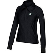 adidas Women's Dallas Stars Logo Black Performance Quarter-Zip Pullover