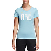 adidas Women's 2018 FIFA World Cup Argentina Crest Blue T-Shirt