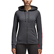 adidas Women's Essentials Linear Zip Up Hoodie