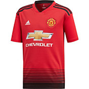 2f0e39bcb74 Product Image · adidas Youth Manchester United 2018 Stadium Home Replica  Jersey