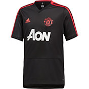 adidas Youth Manchester United Black Training Shirt