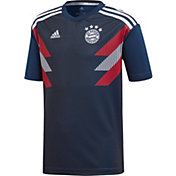 adidas Youth Bayern Munich Navy Prematch Top