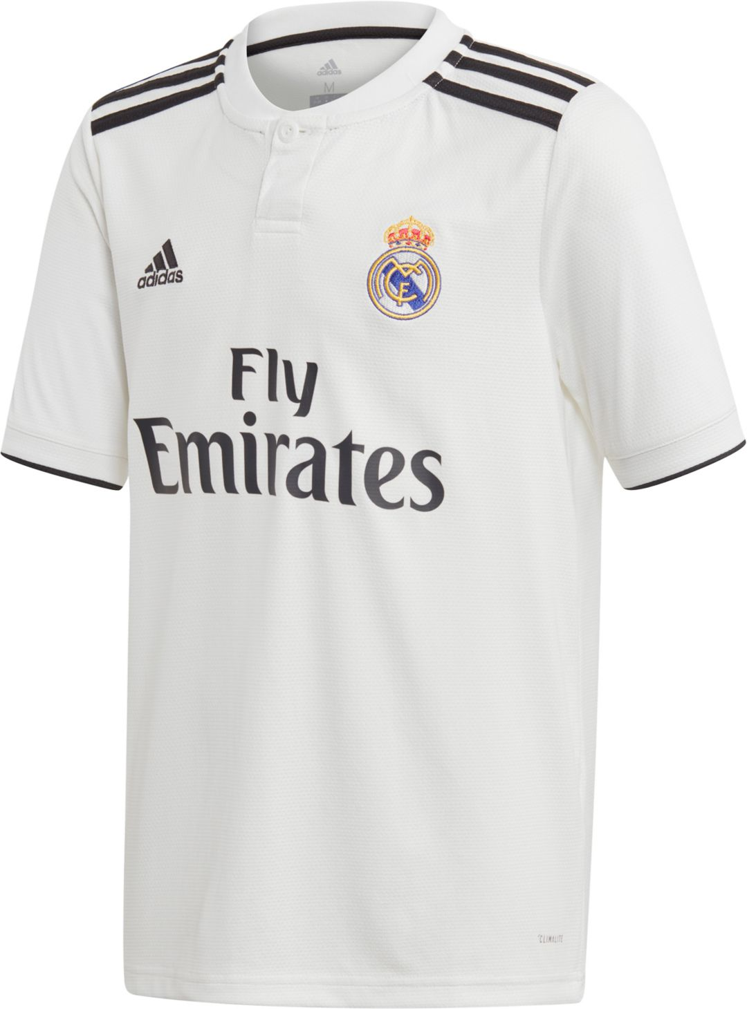 buy popular 80f6f c6925 adidas Youth Real Madrid 2018 Stadium Home Replica Jersey