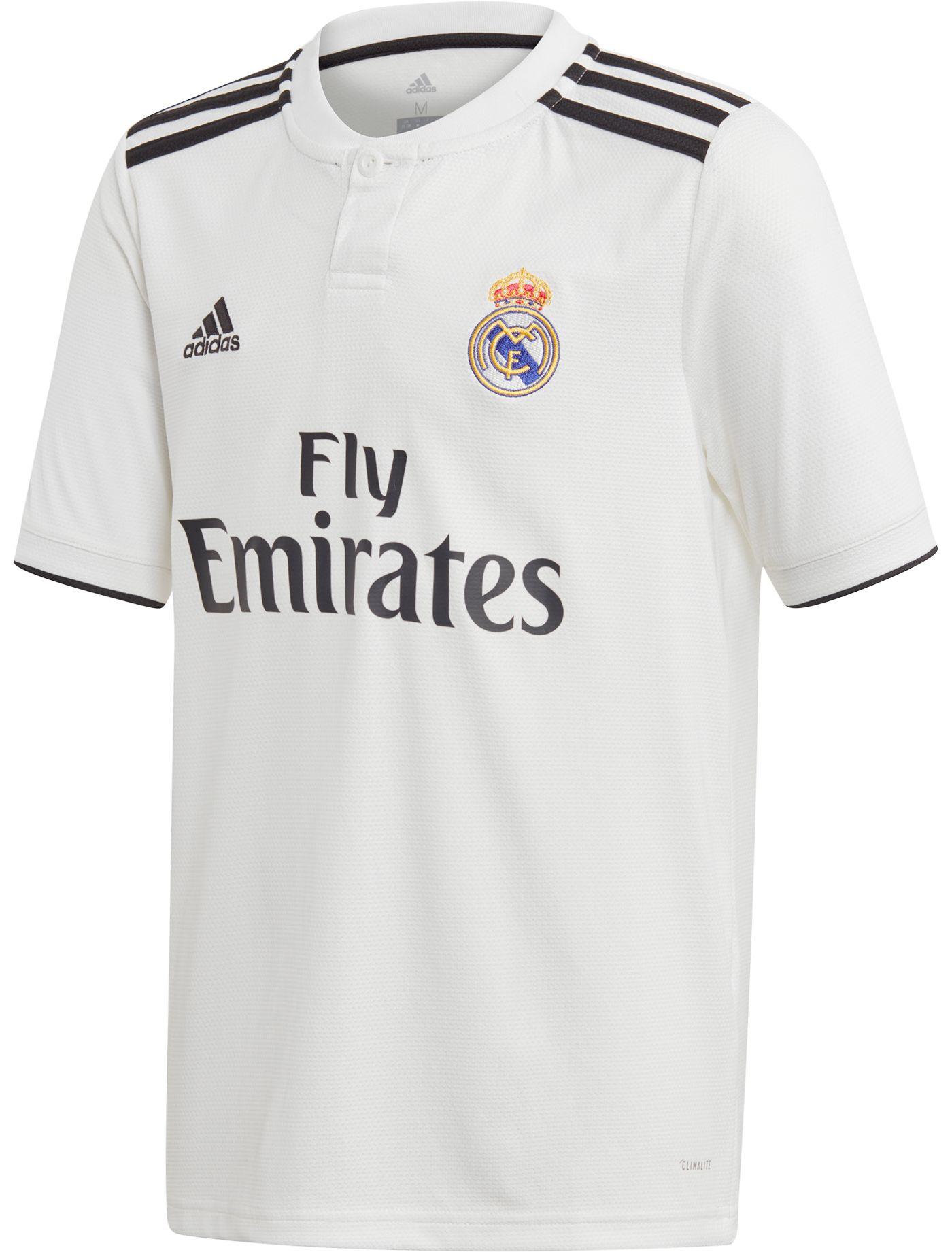 adidas Youth Real Madrid 2018 Stadium Home Replica Jersey