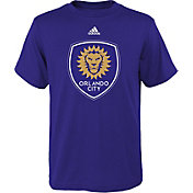 adidas Youth Orlando City Primary Logo Purple T-Shirt