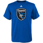 adidas Youth San Jose Earthquakes Big Logo Blue T-Shirt