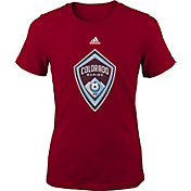 adidas Youth Girls' Colorado Rapids Big Logo Burgundy T-Shirt