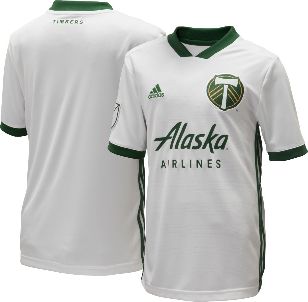 big sale d43a9 d0630 adidas Youth Portland Timbers Secondary Replica Jersey