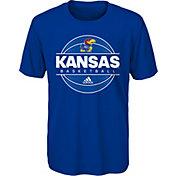 adidas Youth Kansas Jayhawks Blue On-Court Ultimate Short Sleeve T-Shirt