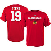 adidas Youth Chicago Blackhawks Jonathan Toews #19 Red T-Shirt