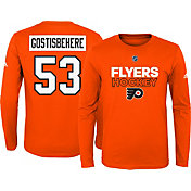 adidas Youth Philadelphia Flyers Shayne Gostisbehere #53 Orange Long Sleeve Shirt