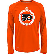 adidas Youth Philadelphia Flyers Practice Orange Performance Long Sleeve Shirt